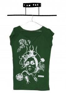 Green T-shirt Donna